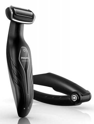 Afeitadora corporal Philips Pae BG203632, Bodygroom, recargable, recorta y afeita cualquier parte del cuerpo, Lavable, uso seco-humedo, 3 peine triming con ajuste de longitud, acc. espalda