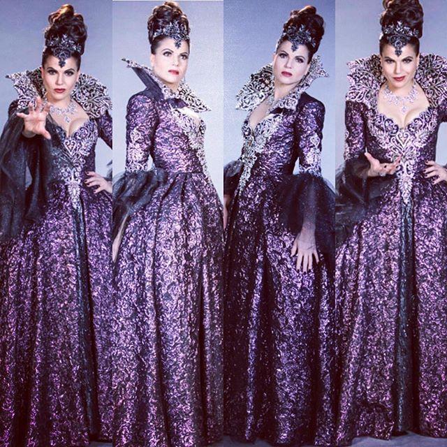 Lana Parrilla.  Regina Mills, Evil Queen dress S6.