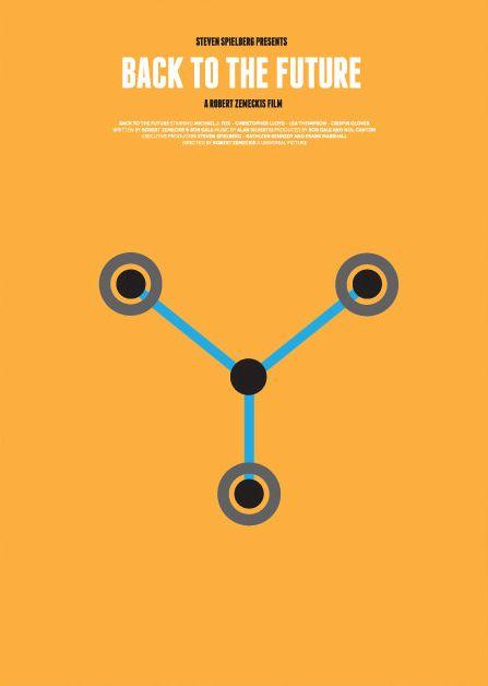 Back to the Future (1985) ~ Minimal Movie Poster by David O'Mara #amusementphile