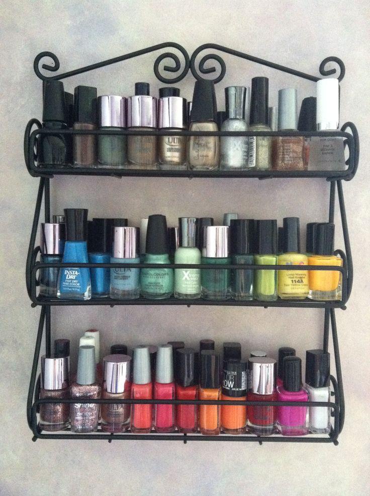 Spice rack turned nail polish holder