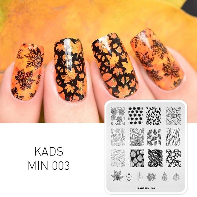 Kads Nail Stamping Plate Leaves Nails Art Stamp Templates For Nail
