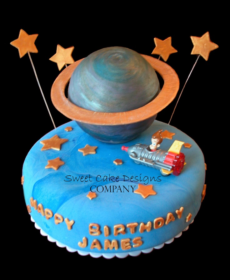 90 best images about river 39 s space birthday ideas on for Outer space cake design