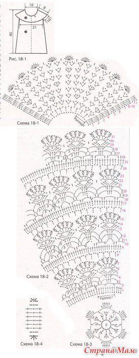 vestido turquesa e colete vzory na h kov n pinterest crochet. Black Bedroom Furniture Sets. Home Design Ideas