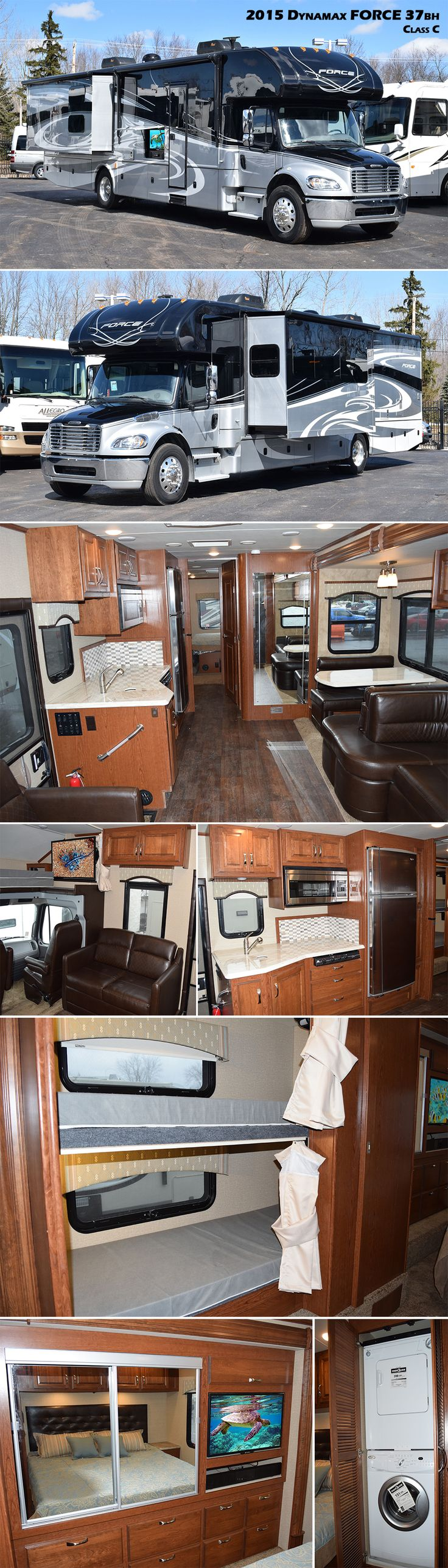 Introducing the all NEW 2015 FORCE 37BH Class C Motorhome by Dynamax. The FORCE is built to last with some of the most luxurious appointments in it's class.