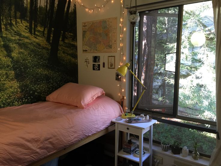 inspo : the tapestry and the yellow lamp add to the overall calamity of the room <3 its lovely