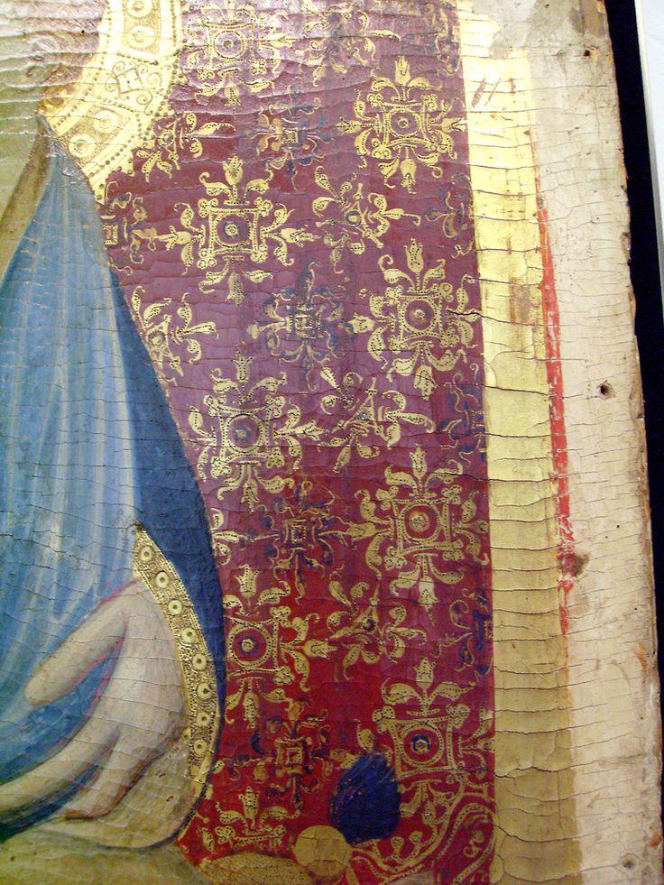 Maestro di Narni del 1409 - Madonna col Bambino in trono, dettaglio - c 1409 - Musée du Petit Palais, Avignone