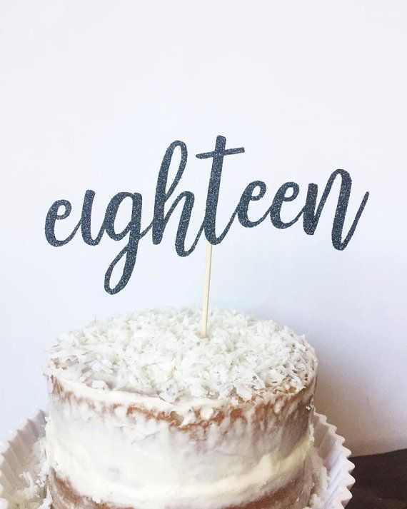 18th Birthday Cake Topper Eighteen By TheLittlePopShop