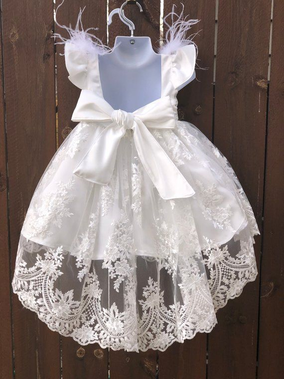 369dadf025666 Fancy Baptism Dress Christening Dress Flower Girl Dress | Sleeve ...