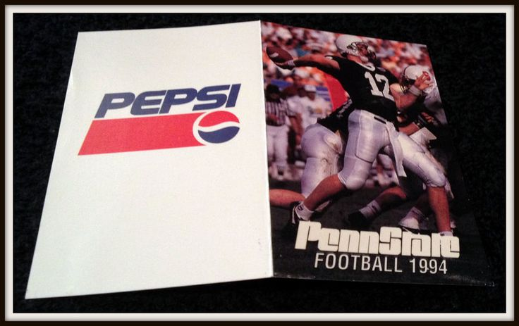 1994 PENN STATE NITTANY LIONS FOOTBALL POCKET SCHEDULE KERRY COLLINS ON COVER #Pocket #SCHEDULE