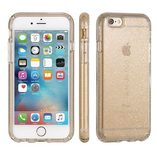 Women's Speck 'Candyshell' Iphone 6 Plus & 6S Plus Case ($40) ❤ liked on Polyvore featuring accessories, tech accessories, clear gold glitter, iphone cover case, apple iphone cases, glitter iphone case, iphone cases and slim iphone case