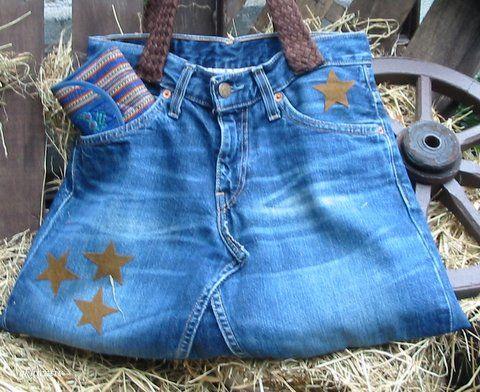 Jeanstasche ( aus alter Jeans)