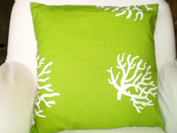 Pillows Decorative Accent Throw Pillow Cushion Covers Lime Green White C Both Sides