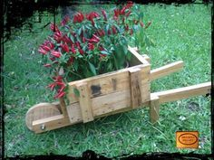 Pallet Wheelbarrow Planter Pallets in The Garden Planters & Compost