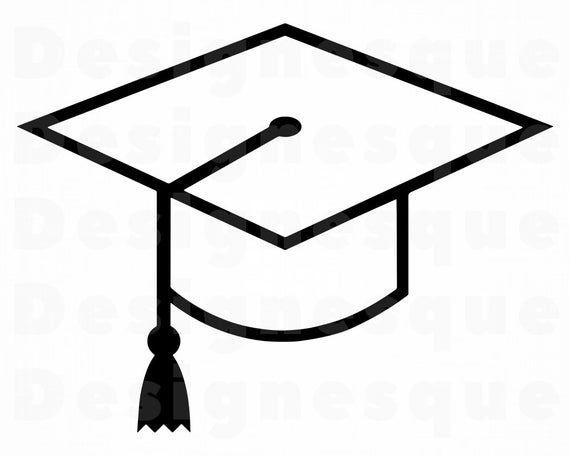 Graduation Cap Outline Svg Graduation Svg Graduation Cap Etsy In 2021 Graduation Cap Clipart Graduation Cap Hand Embroidery Art