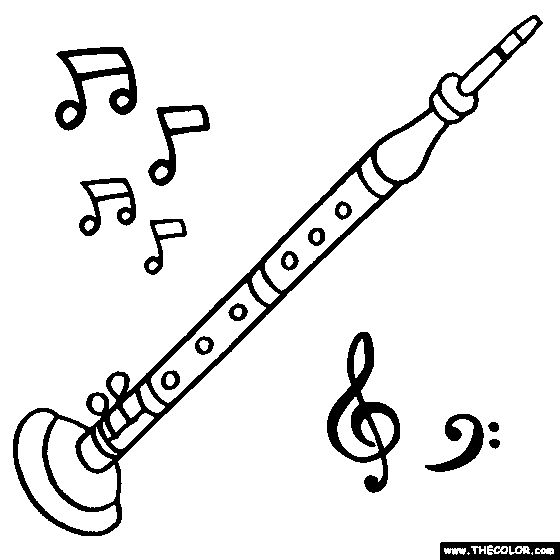 oboe coloring page