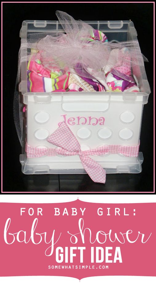 How to put together a super simple + budget friendly girl baby shower gift.