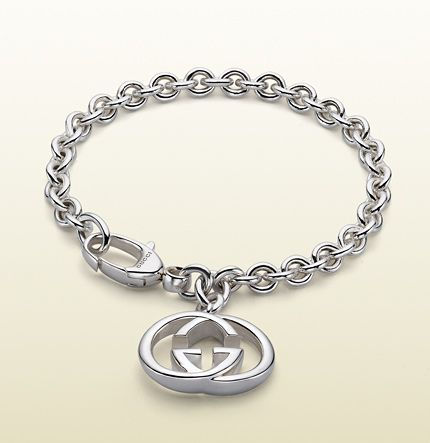 Gucci - bracelet with interlocking G motif charm. 190501J84008106 http://www.gucci.com/us/home