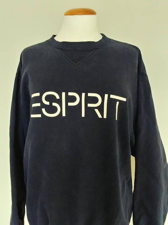 4541b3b61e3 Vintage 90 s Esprit Big Spell Out Sweatshirt  Retro 90 s Big Logo ...