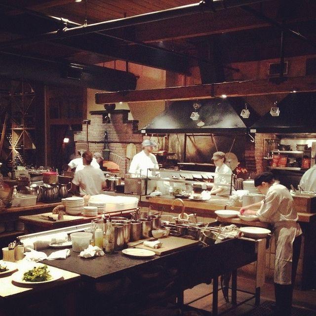 Open Kitchen Restaurant Rustic