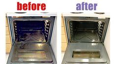 Dish of ammonia on the top rack, pot of boiling water on the bottom - shut the door and leave it overnight - easy cleaning