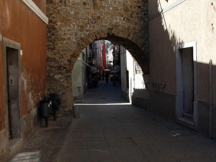 Beautiful old street in Muggia