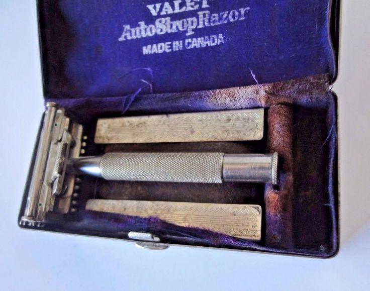 Valet Auto Strop Razor c/w Leather Strop & Chrome Case  #Valet