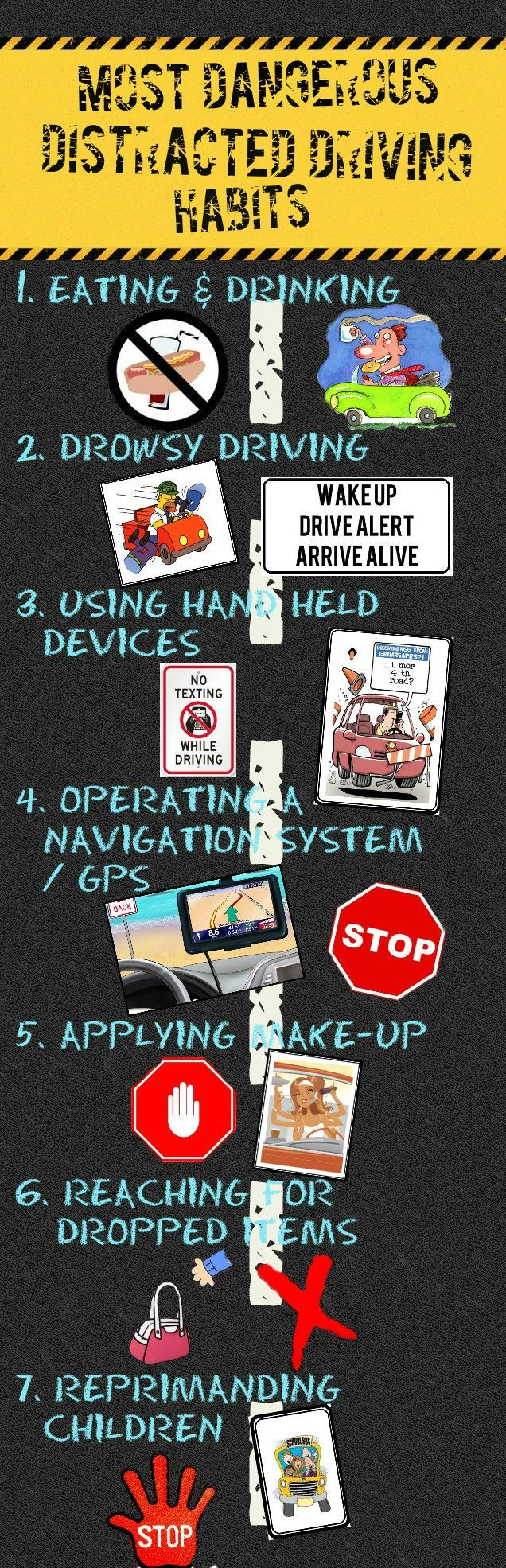the best driving safety ideas safe driving tips most dangerous distracted driving habits distracteddriving 888bailbond com
