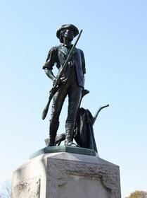 アメリカ独立戦争が始まった場所。コンコード広場。ボストン 旅行・観光の見所。