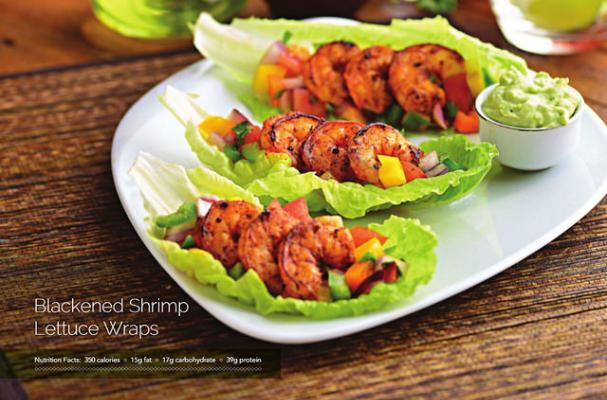 Blackened Shrimp Lettuce Wraps | I've got an easy dinner for you that you are simply going to love! It takes just 30 minutes to make, it's healthy (all the good fats and none of the bad), and best of all, it is sooo scrumptious.