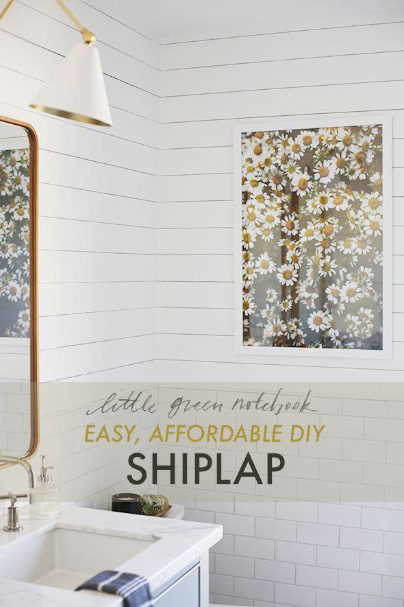 Easy, Affordable Shiplap Using Bender Board | Little Green Notebook | Bloglovin'