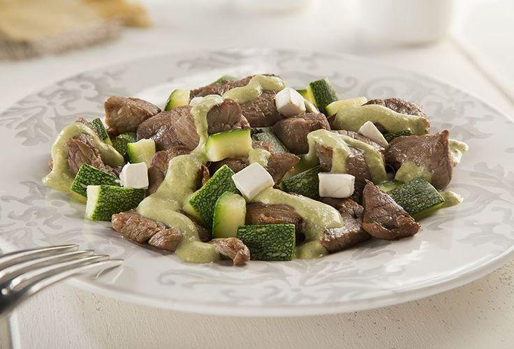 Carne de res con calabacitas en salsa poblana - Recetas de carne - Comida - Recetas - Philadelphia
