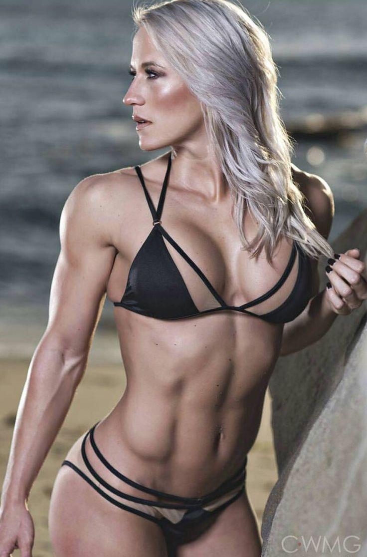 Blonde fitness deutsche muskel schlampe macht ein userdate draußen ohne gummi