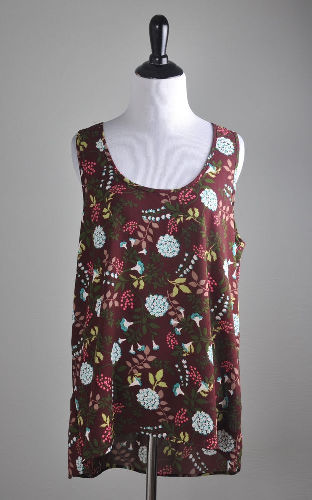 82799ef3103b6c ANTHROPOLOGIE  68 Pleione Floral Keyhole High Low Tank Top Size Medium   fashion  clothing  shoes  accessories  womensclothing  tops (ebay link)
