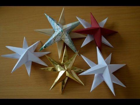 Skládání papírové hvězdy - video k článku na www.brydova.cz