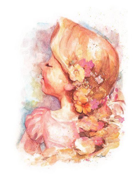 Rapunzel watercolor.