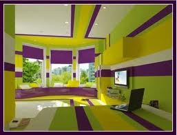 The Split Complementary Colors In This Room Are Green Yellow And Purple They