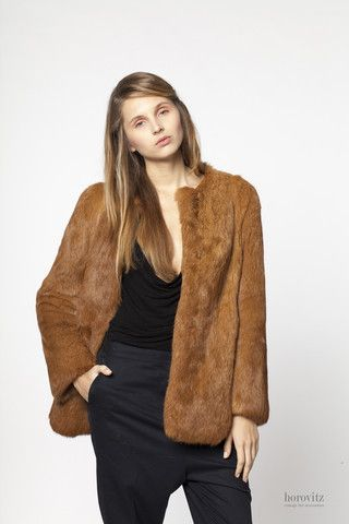 caramel rabbit jacket – horovitz