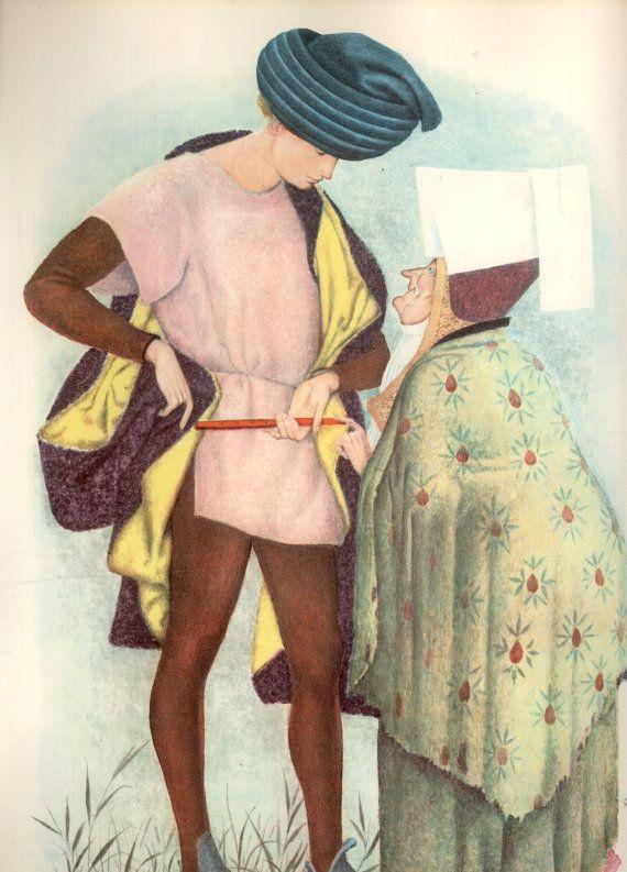 Vintage Childrens Book Fairy Tales Rabbit Catcher Ludwig Bechstein Randall…