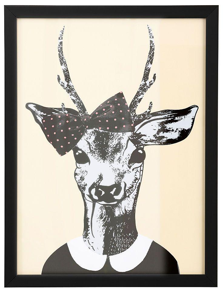 Home affaire gerahmter Kunstdruck »Reh-Frau in Spaziergang-Kleidung« Jetzt bestellen unter: https://moebel.ladendirekt.de/dekoration/bilder-und-rahmen/poster/?uid=038ec7fb-f119-5f7b-af74-3d54307ba39f&utm_source=pinterest&utm_medium=pin&utm_campaign=boards #zubehör #bilder #rahmen #poster #dekoration