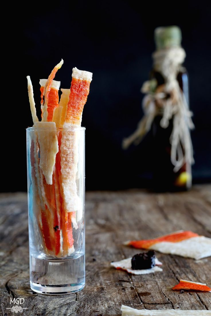 Chips de surimi con aceite de trufa migrandiversion