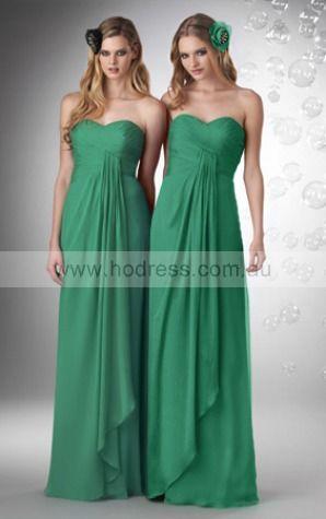 Chiffon Sweetheart Empire A-line Floor-length Bridesmaid Dresses 0740315