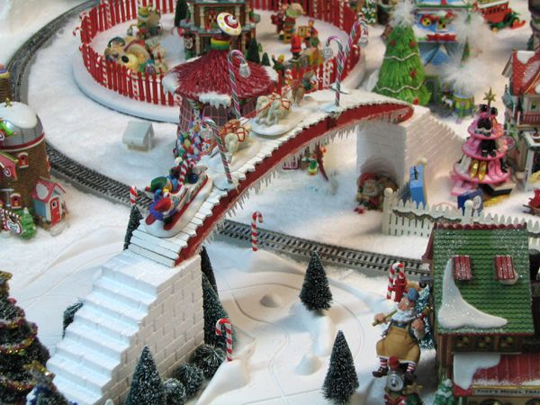 North Pole Village Display made with Hot Wire Foam Factory tools