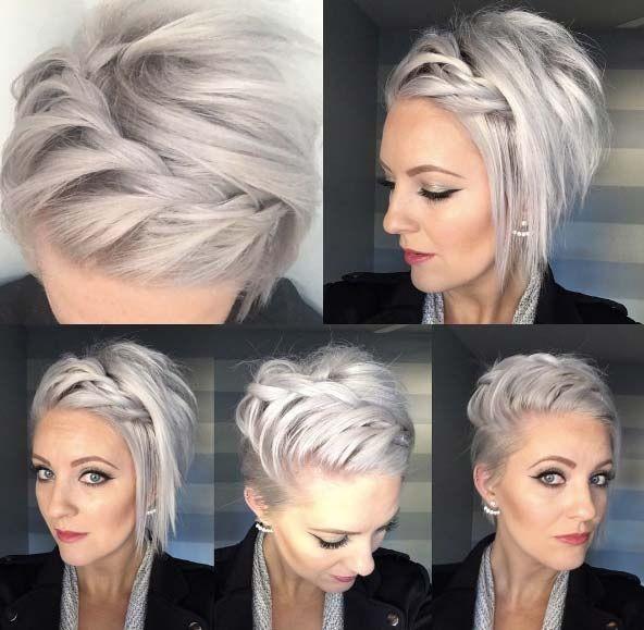 Favori Les 25 meilleures idées de la catégorie Cheveux courts sur  QZ04