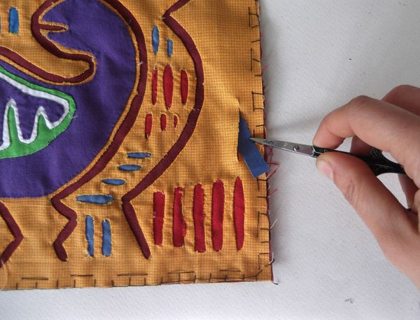 how to make a mola, mola tutorial, mola course, mola making, mola instruction, multicolor mola