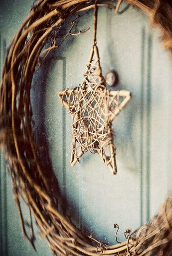 twigs, hot glue, and twine to make a super cute rustic star shaped Christmas Xmas Yule ornament. Or do the same thing but 5x bigger with big sticks instead of twigs and you could have a beautiful Christmas Xmas Yule art piece to hang above the fireplace mantle, or star shaped alternative wreath.