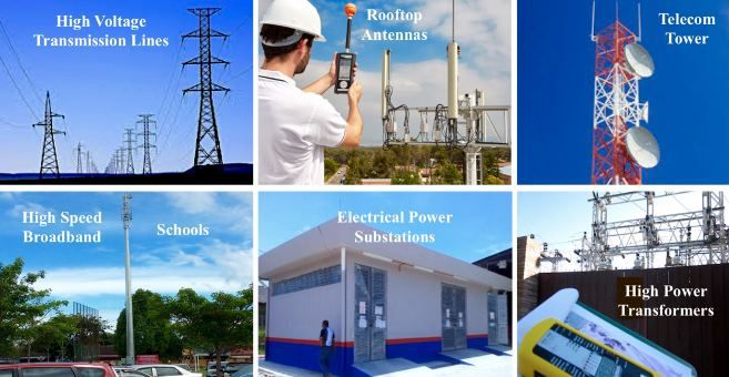 Electromagnetic Field (EMF) Testing / Assessment at power substations, power transmission lines, telecommunication towers. Contact us today for more details.