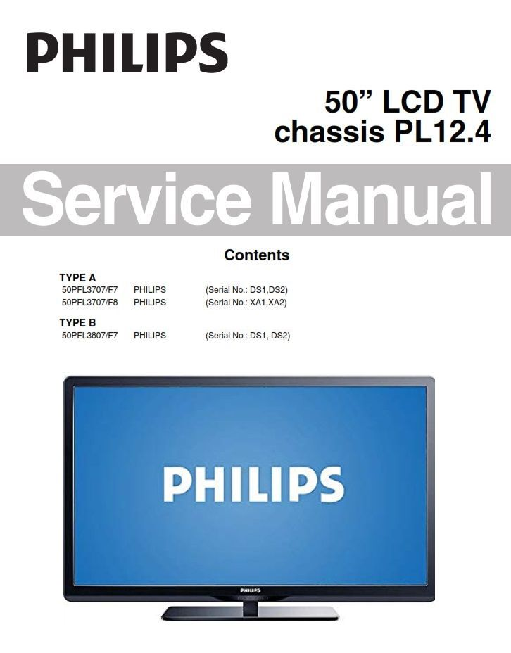 Philips 50pfl3807 50pfl3707 Lcd Tv Service Manual Schematics Tv Services Philips Manual