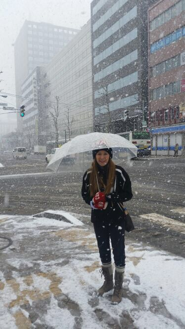 Kaitlyn in snowy Sapporo for her first world curling championship