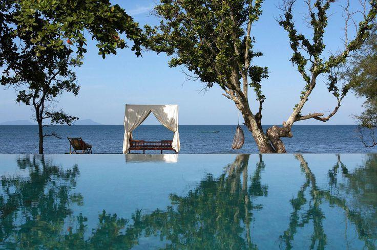 Knai Bang Chatt, Cambodia: Fish Village, Natural Beautiful, Built In, Resorts, Knai Bangs, Bangs Chatt, Cambodia, Infinity Pools, Luxury Hotels