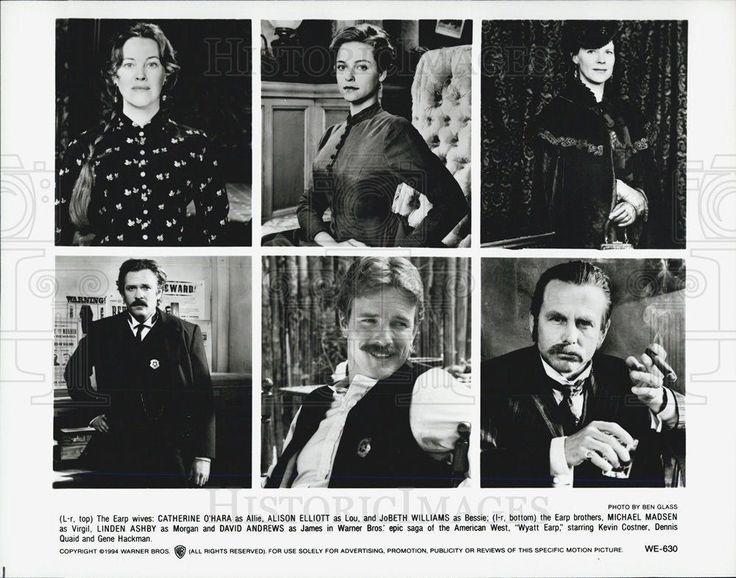 """1994 Press Photo Cast of """"Wyatt Earp"""""""